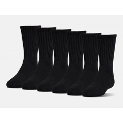 Under Armour Socks Charged Cotton 2.0 Crew, 6-Pack, SIZE M