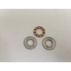Washer and axial bearing for piston heads or spring guide
