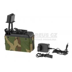 Zásobník pro M249 1500 ran, elektrický, woodland
