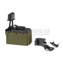 Zásobník pro M249 1500 ran, elektrický, olivový