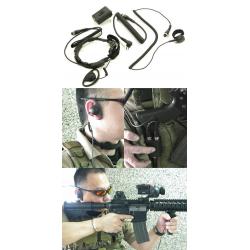 Taktický headset s hrdelním mikrofonem (Motorola 2pin)