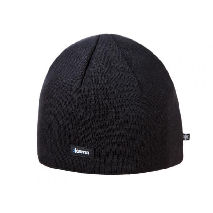 Merino Pletená čepice Kama A02, velikost M - černá