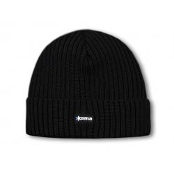 Kama knitted beanie A12 - black