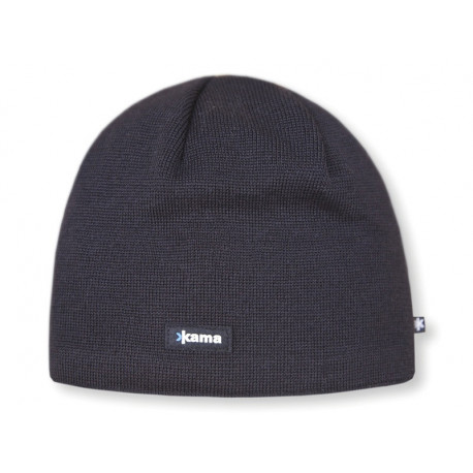Merino Kama knitted beanie AW19 - Windstopper SoftShell - black