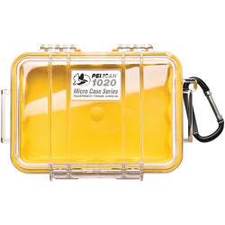 PROTECTOR Peli case micro 1020 - yellow with clear cover