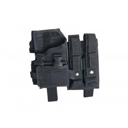 Stehenní pouzdro na MP7, MP9, VZ61, MP5K nebo pistole se svítilnou - černé