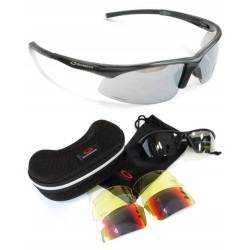 G-C6 Polycarbonate Eye Protection Glasses- Black/2010 Ver.