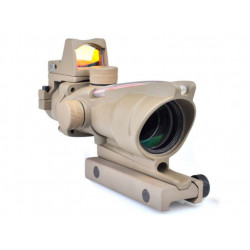 Element AIMO 4x32C Fiber Optic Scope w/ RMR Style Red dot ( Dark Earth )