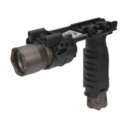 Taktická rukojeť se svítilnou 910A - černá