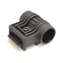 Montáž svítilny - boční, průměr 25mm - olivová