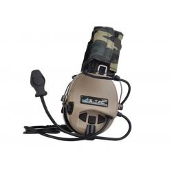 Taktický headset SORDIN (kopie Peltor), piskový