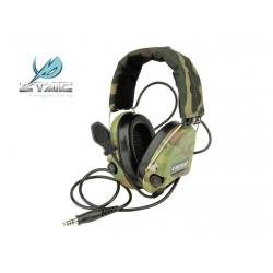 Taktický headset SORDIN (kopie Peltor), multicam