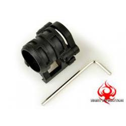 Montážní kroužek 25mm na RIS - černý