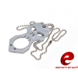 Two-sided Skulls Survival Tool (w/67mm stainless steel chain)