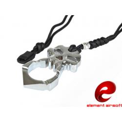EDC Oboustranný nástroj pro přežití Skull - kovový (barva OCEL)