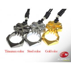 EDC Oboustranný nástroj pro přežití Skull - kovový (barva GOLD)