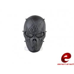 Celoobličejová maska síťovaná M06, černá