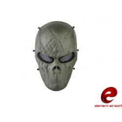 Celoobličejová maska síťovaná M06, zelená