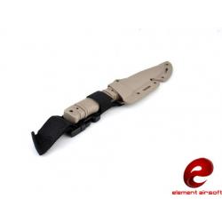 M37-K Rubber Training Knife w/ Hardshell Sheath (DE)
