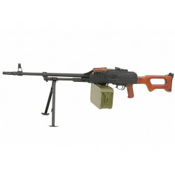 PKM machine gun - real wood stock
