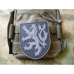 Patch CZECH LION velcro - BLACK
