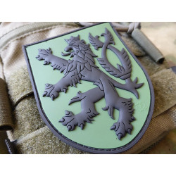 Patch CZECH LION velcro - GREEN