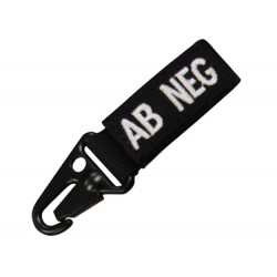 Keychain with blood group BLACK - A POS