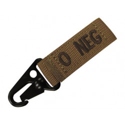 Keychain with blood group COYOTE - 0 POS