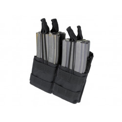 Double Stacker Open-Top M4 Mag Pouch Black