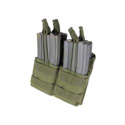 Sumka MOLLE dvojitá na zásobníky 4xM4 otevř. zelená