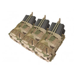 Triple Stacker Open-Top 6xM4/6xM16 Mag MOLLE Pouch Multicam
