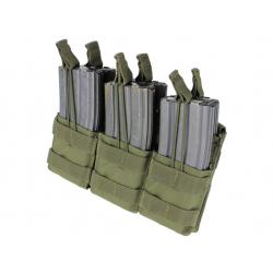 Sumka MOLLE trojitá na zásobníky 6xM16 otevřená zelená