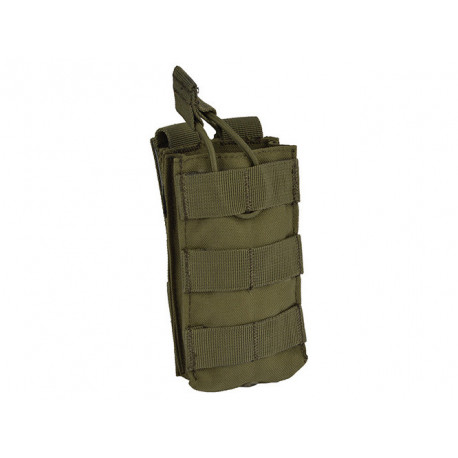 Single Open-Top M4 Mag MOLLE Pouch Olive