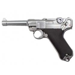 WE Full Metal P08 4 Inch Gas Blowback Pistol ( Sliver )
