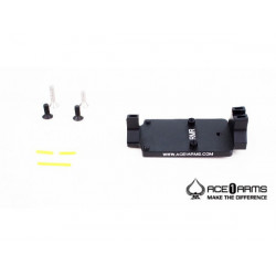 ACE 1 ARMS Fiber Back Up Sight Base for Marui / WE M1911 Gas BlowBack Pistol ( Black )