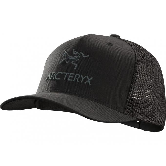 Kšiltovka Arc\'teryx Logo Trucker Hat, černá