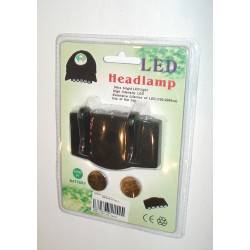 Flashlight for cap, black