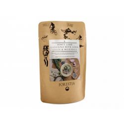 Jehněčí s mátovou omáčkou s dlouhozrnnou a divokou rýží