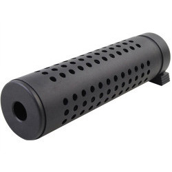 QD silencer 144 x 38 mm - BLACK