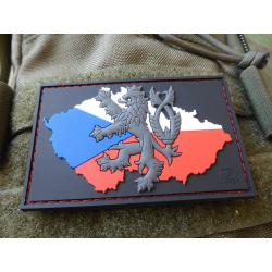 JTG Lion CZ Flag Patch, fullcolor / JTG 3D Rubber Patch