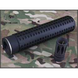 Big Dragon QD silencer Knights KAC Type - BLACK