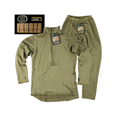 Set of functional underwear and T-shirt LEVEL 2 OLIVE, SIZE S