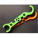 Metal AR15 Hardox wrench tool - green