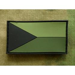 Vlajka AČR bojová olivová plast velcro, 55 x 30 mm