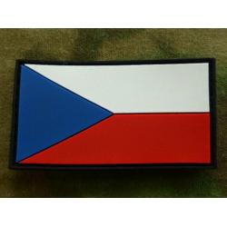 Vlajka AČR barevná plastová velcro, 55 x 30 mm