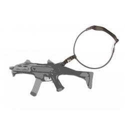 Popruh na zbraň 1-bodový elastický - černý