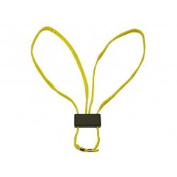 Jednorázová textilní pouta – žlutá, 5 kusů