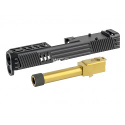 LW-Style RMR Cut Aluminum CNC Slide W/ Stainless Golden Barrel for Marui G26 GBBP