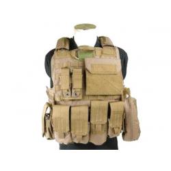 Taktická modulární vesta Force Recon verze XL, khaki