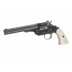"Revolver Schofield 6"" 4,5mm, Plated Steel GY & Ivory Grip"